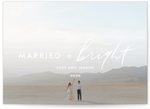 This is a white holiday photo card by Cheer Up Press called Bright Love with standard printing on smooth signature in standard.