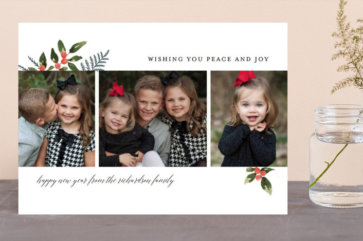 """Holiday Joy and Peace"" - Holiday Photo Cards in Snow by Chris Griffith."