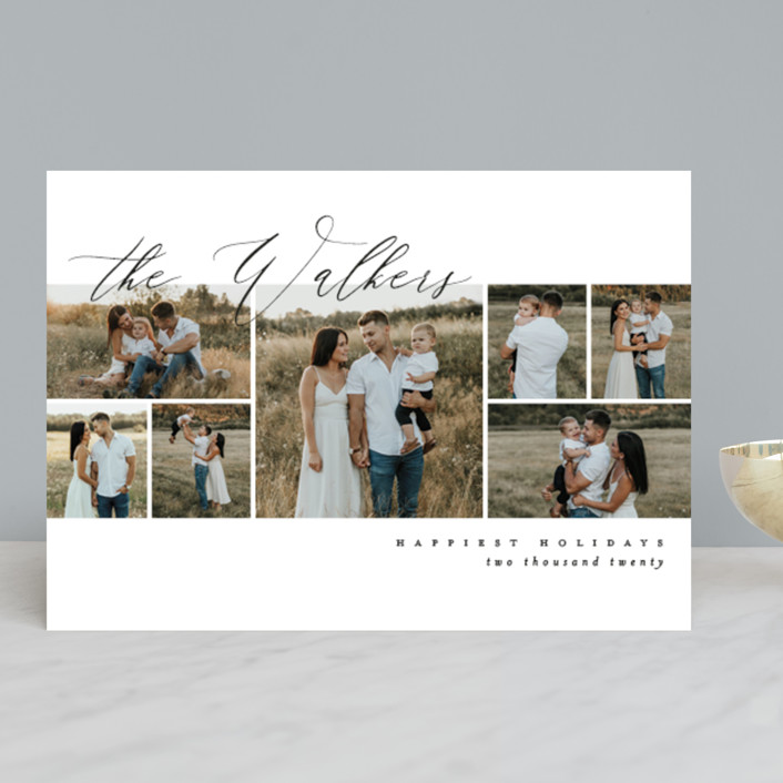 """Scripted Name Overlay"" - Holiday Photo Cards in Berry by Kelly Schmidt."