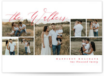 This is a red holiday photo card by Kelly Schmidt called Scripted Name Overlay with standard printing on smooth signature in standard.