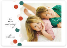 This is a green holiday photo card by Melissa Egan of Pistols called Confetti Edge with standard printing on smooth signature in standard.