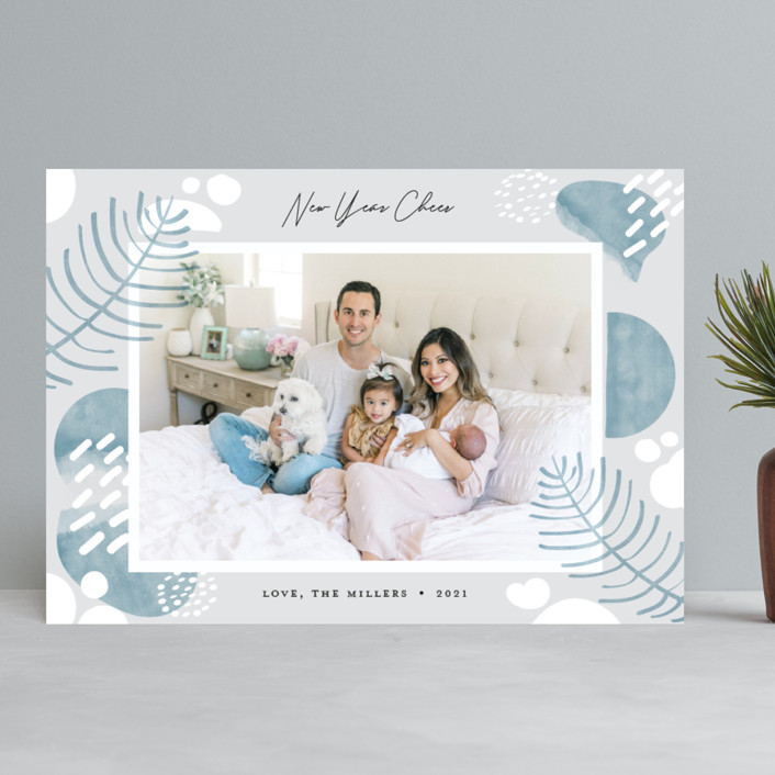 """""""Cozy Holiday"""" - Modern Holiday Photo Cards in Frost by Darryl Don Doctor."""