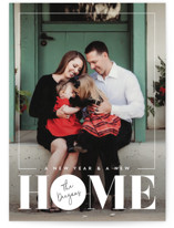 This is a white holiday photo card by Erin Deegan called No Place Like Home with standard printing on smooth signature in standard.