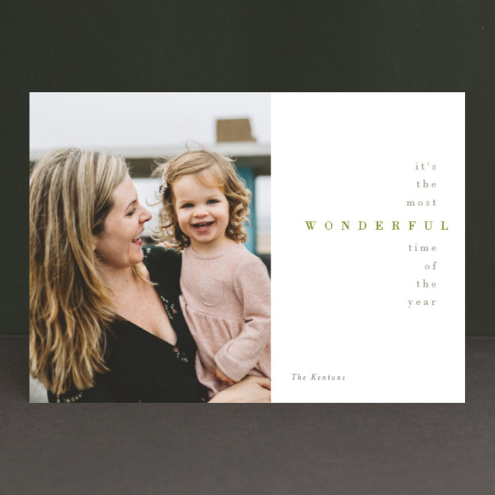 """Serenade"" - Holiday Photo Cards in Holly by chocomocacino."
