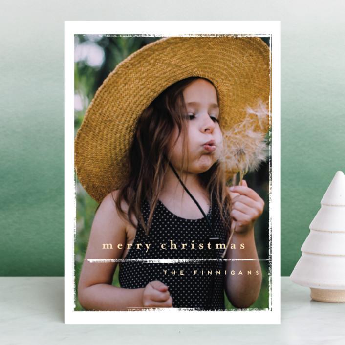 """""""chiffon"""" - Holiday Photo Cards in Daisy by chocomocacino."""