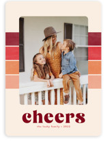 This is a red holiday photo card by Annie Holmquist called Vintage Stripe with standard printing on smooth signature in standard.