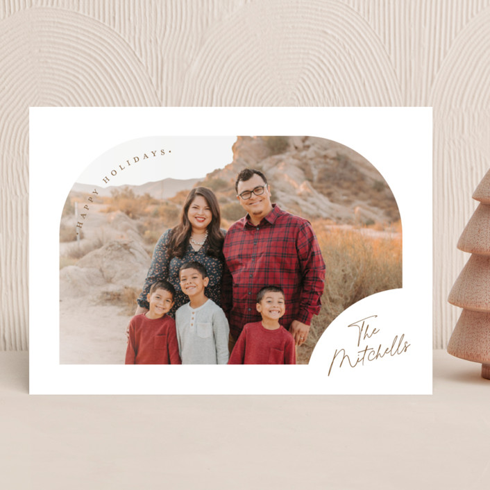 """""""Simply Arched"""" - Holiday Photo Cards in Snowflake by Jessica Williams."""