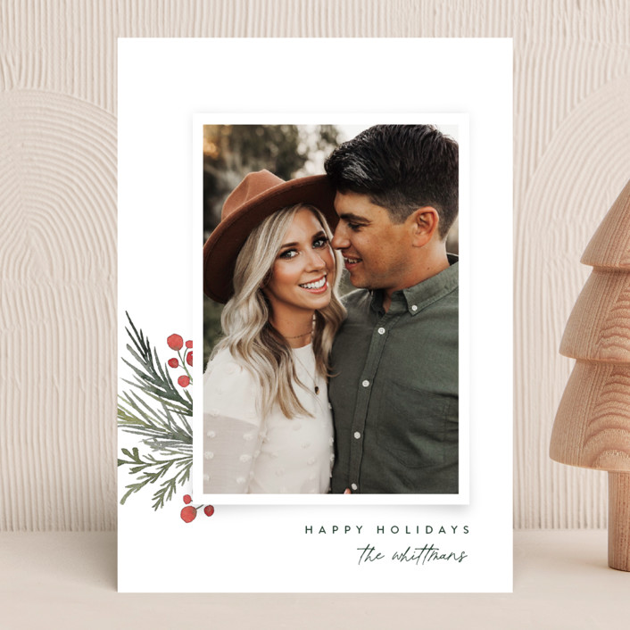 """""""Corner Trim"""" - Holiday Photo Cards in Snowfall by Jessica Williams."""
