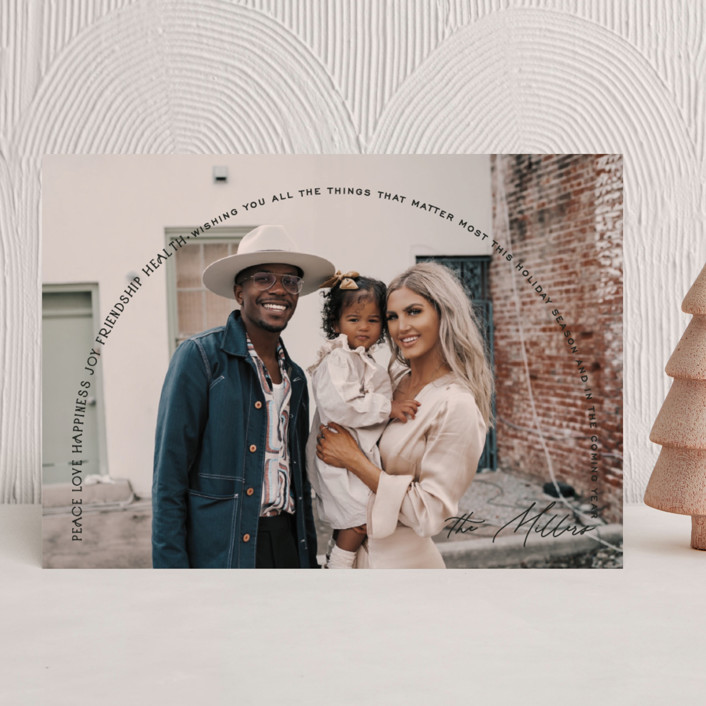 """""""The coming year"""" - Holiday Photo Cards in Onyx by Owl and Toad."""