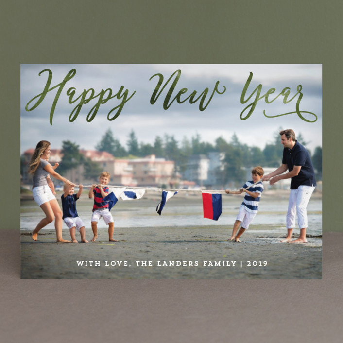 """""""Happiest Overlay"""" - Holiday Photo Cards in Forest by Chasity Smith."""