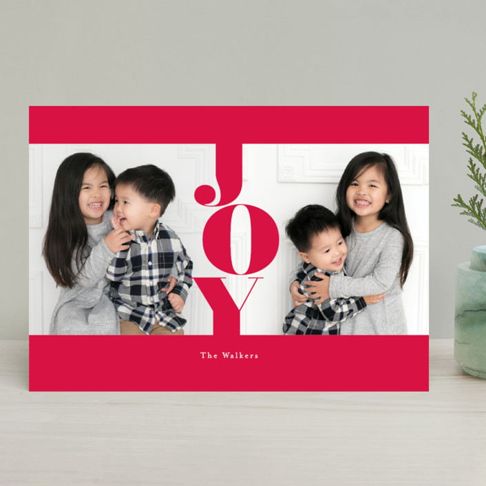 """""""marshmallow"""" - Holiday Photo Cards in Scarlet by chocomocacino."""