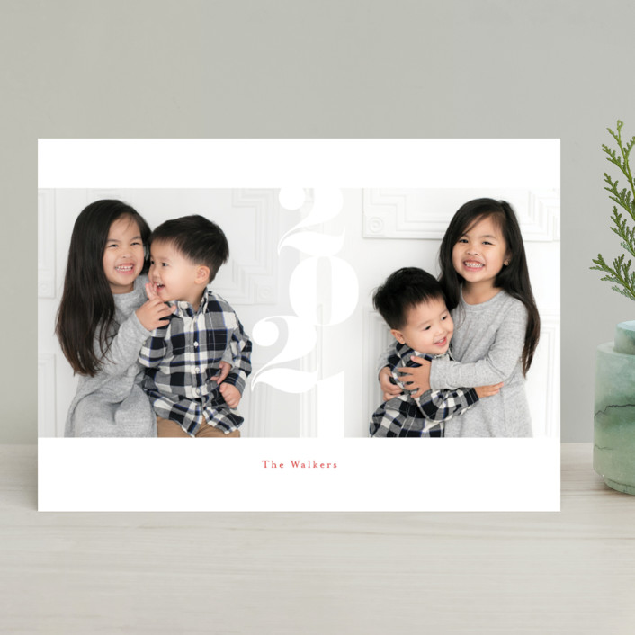 """""""marshmallow"""" - Holiday Photo Cards in Cherry by chocomocacino."""
