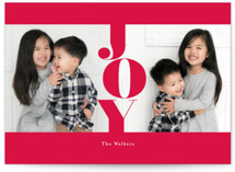 This is a red holiday photo card by chocomocacino called marshmallow with standard printing on smooth signature in standard.