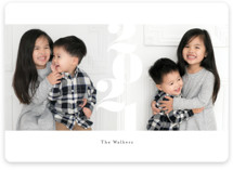 This is a white holiday photo card by chocomocacino called marshmallow with standard printing on smooth signature in standard.
