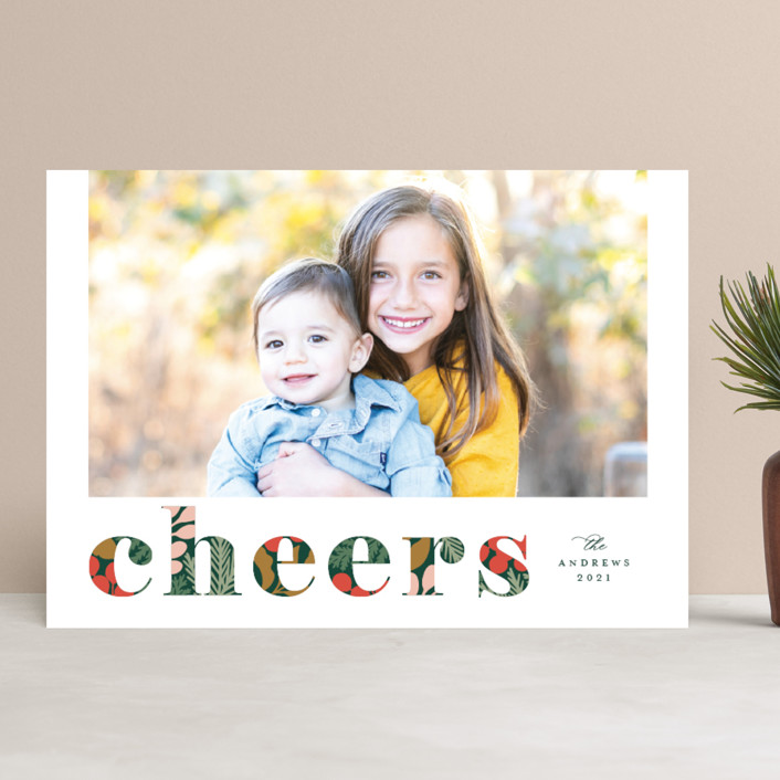 """Festive Merry Mix"" - Holiday Photo Cards in Forest by Michelle Taylor."