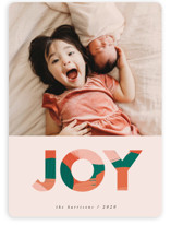 This is a colorful holiday photo card by Iveta Angelova called Bold & Happy with standard printing on smooth signature in standard.