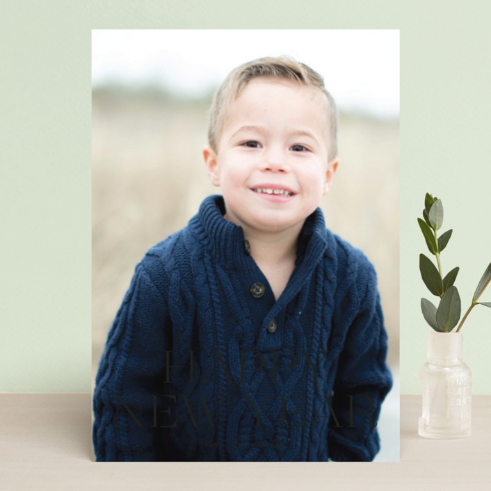 """""""formal fancy merry"""" - Holiday Photo Cards in Golden by Phrosne Ras."""
