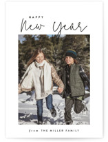 This is a white holiday photo card by Carolyn Nicks called keepin it fun with standard printing on smooth signature in standard.