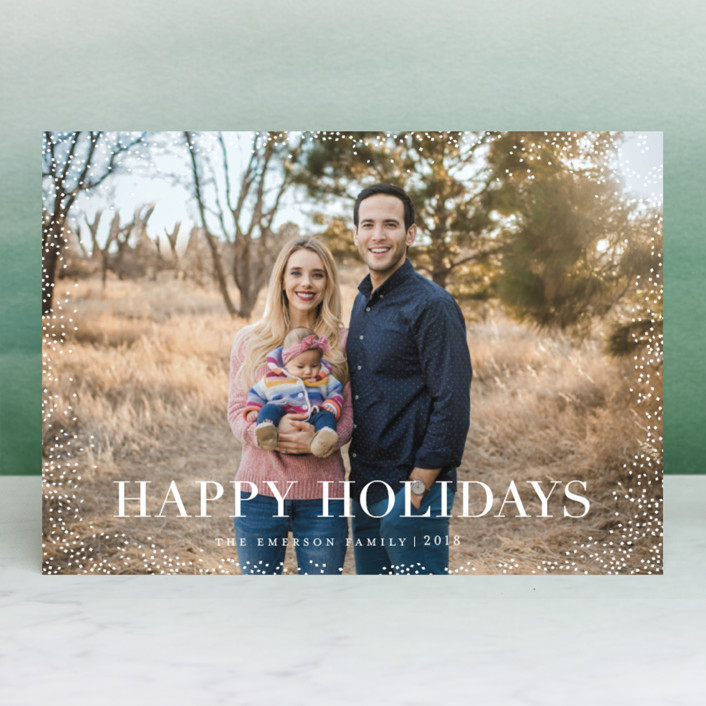 """""""midwinter night's dream"""" - Holiday Photo Cards in Icing by Design Lotus."""