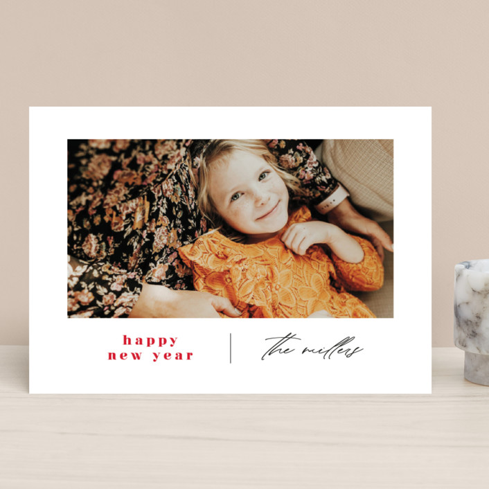"""""""Modern Days"""" - Holiday Photo Cards in Maple Leaf by Ana Sharpe."""