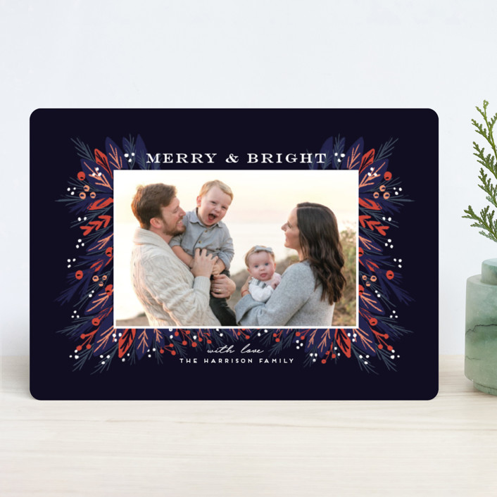"""""""Be Merry and Bright"""" - Holiday Photo Cards in Midnight by iamtanya."""