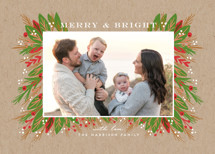 Be Merry and Bright Holiday Photo Cards By iamtanya