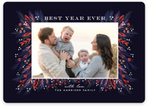 This is a blue holiday photo card by iamtanya called Be Merry and Bright with standard printing on smooth signature in standard.