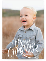 This is a white holiday photo card by Laura Bolter Design called Entwined with standard printing on smooth signature in standard.
