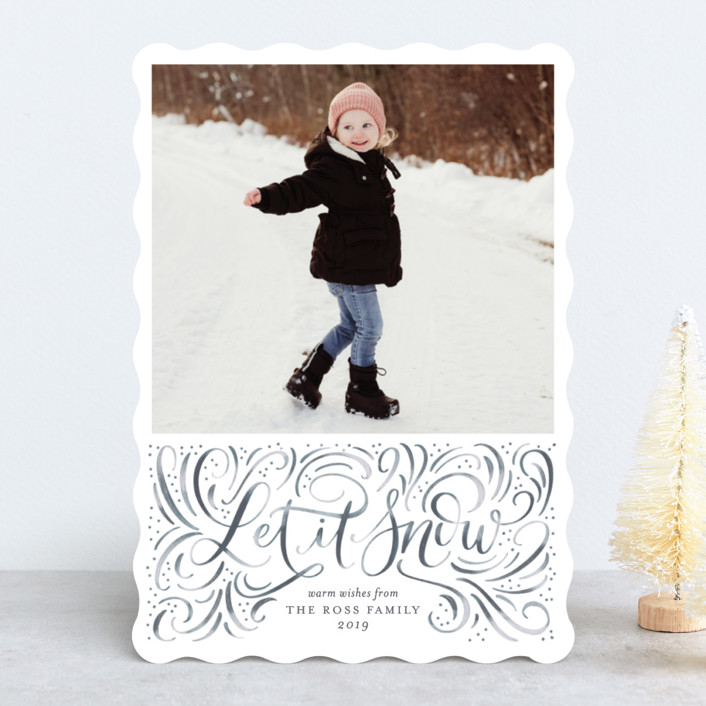 """Let it Snow"" - Holiday Photo Cards in Blizzard by Erin German Design."