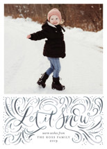 Let it Snow Holiday Photo Cards By Erin German Design