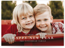 This is a white holiday photo card by Wildfield Paper Co called The Merriest of Days with standard printing on smooth signature in standard.