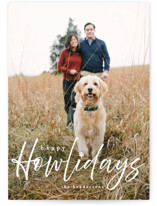 This is a white holiday photo card by Vanessa Doyle called Howliday with standard printing on smooth signature in standard.