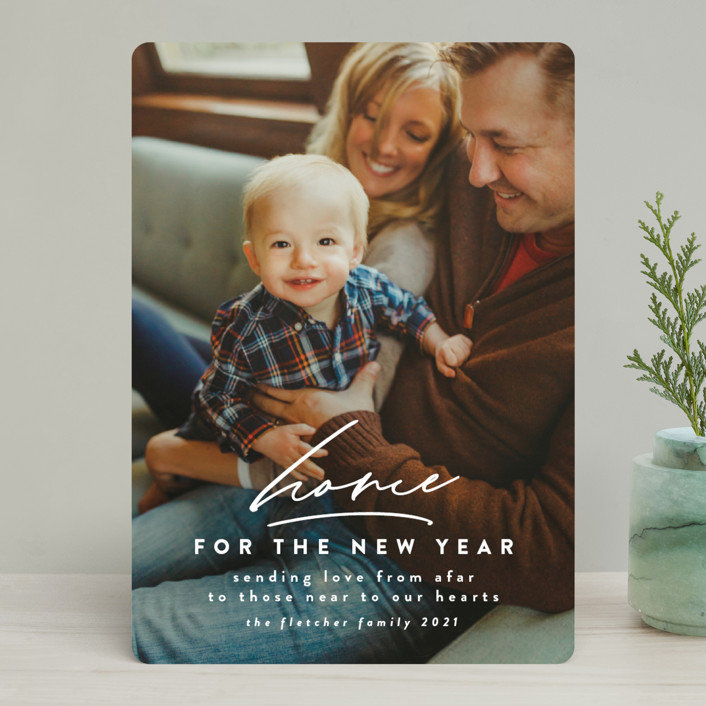 """""""Holidays at Home"""" - Holiday Photo Cards in Alabaster by Jen Banks of Ink and Letter."""