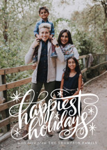 Hand Lettered Happiest Holidays Holiday Photo Cards By Jamie Schultz Designs