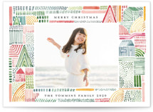 This is a colorful holiday photo card by Morgan Ramberg called Merry Watercolor with standard printing on smooth signature in standard.