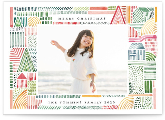 Merry Watercolor Holiday Photo Cards