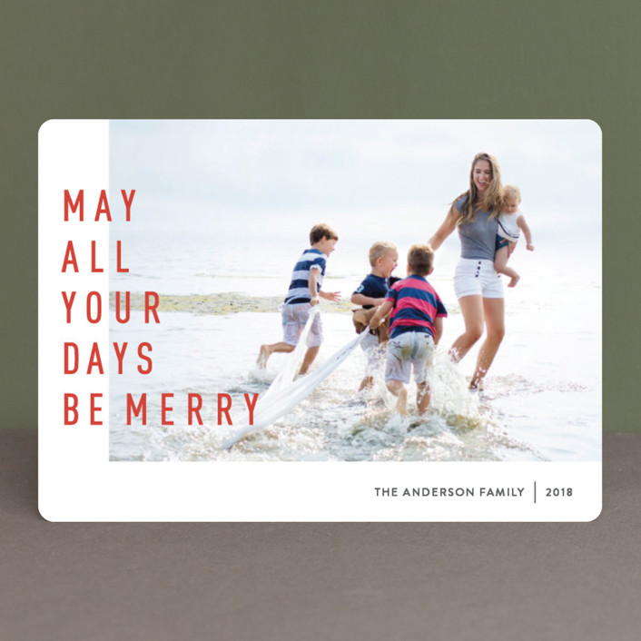 """May They Be Merry"" - Holiday Photo Cards in Spicy by Abby Munn."