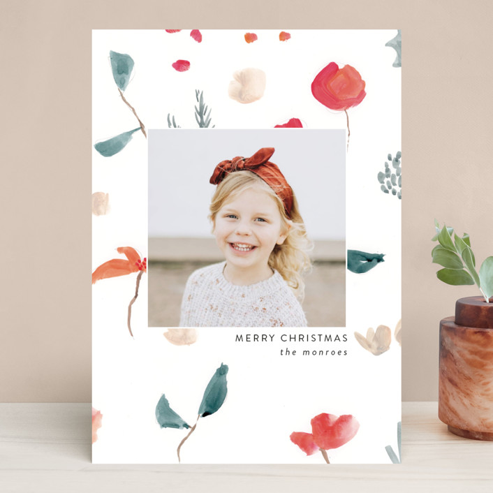 """""""Christmas Sketch"""" - Holiday Photo Cards in Snow by Lindsay Megahed."""