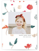 This is a white holiday photo card by Lindsay Megahed called Christmas Sketch with standard printing on smooth signature in standard.