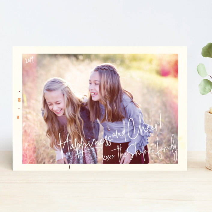"""""""Snapshot"""" - Modern Holiday Photo Cards in Mountain Sunset by Design Lotus."""