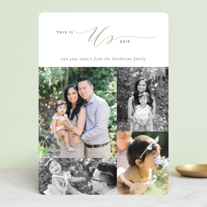 """""""This is Us"""" - Holiday Photo Cards in Evergreen by Simona Camp."""