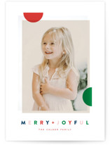This is a green holiday photo card by Oscar and Emma called Modern Dot with standard printing on smooth signature in standard.