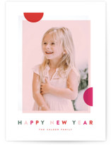 This is a pink holiday photo card by Oscar & Emma called Modern Dot with standard printing on smooth signature in standard.