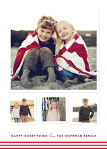 Modern Candy Stripes Holiday Photo Cards By Kimberly Morgan