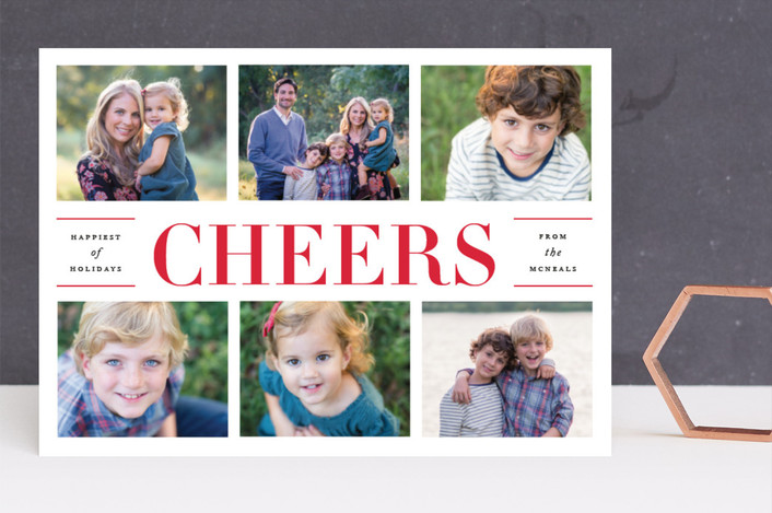 """""""Classical"""" - Holiday Photo Cards in Candy Apple by Jennifer Postorino."""