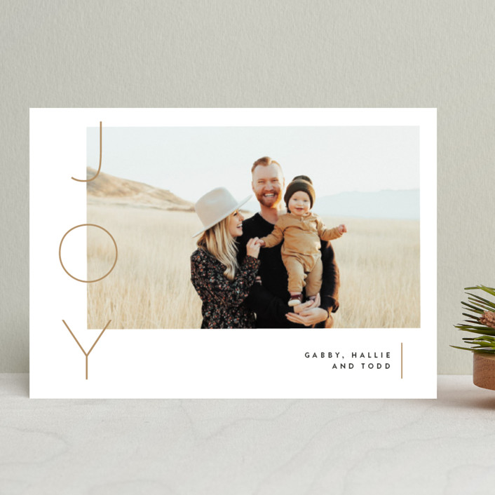 """Your reasons"" - Holiday Photo Cards in Champagne by Susan Brown."