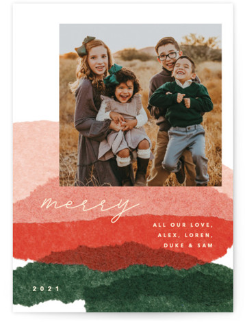 jovial tissue collage Holiday Photo Cards