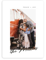 This is a black holiday photo card by Nicoletta Savod called Pristine with standard printing on smooth signature in standard.