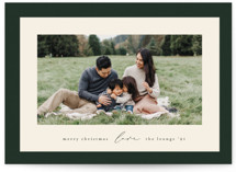 This is a green holiday photo card by Ekko Studio called Classic Frame with standard printing on smooth signature in standard.
