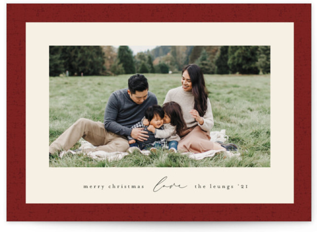 Classic Frame Holiday Photo Cards